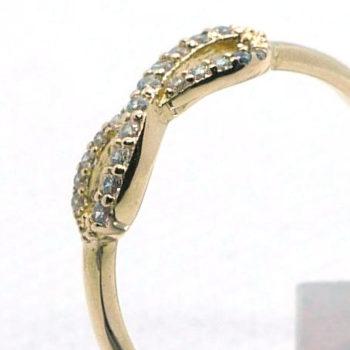 """Zlatý prsten """"nekonečno"""" se zirkony"""