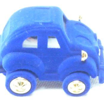Modré semišové autíčko