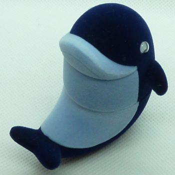 Modrý semišový delfín
