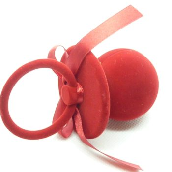 Semišový dudlík červený