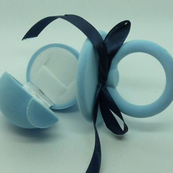 Semišový dudlík modrý