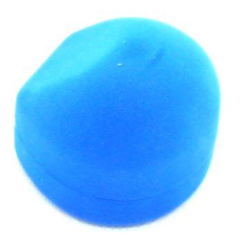 Semišová modrá krabička